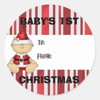 Baby's 1st Christmas gift tag