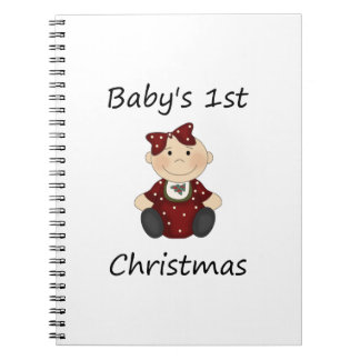 Baby's 1st Christmas (girl) Note Book