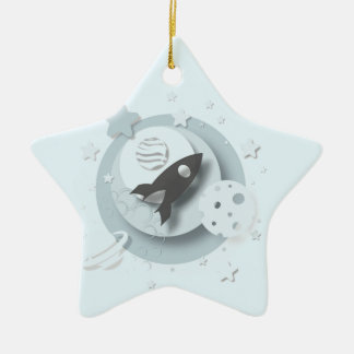 """Baby's 1st Christmas"" Moon & Stars Decoration"