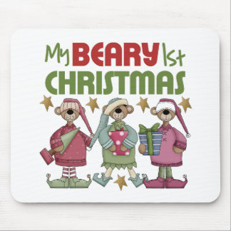 Babys 1st Christmas Mouse Pads