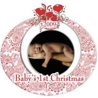 Baby's 1st Christmas Photo Sculpture Decoration