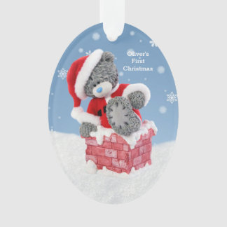 Baby's 1st Christmas, Santa Teddy Bear Ornament