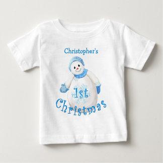 Baby's 1st Christmas Snowman Shirt
