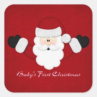Babys 1st Christmas Square Sticker