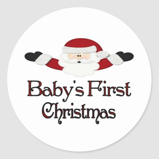 Babys 1st Christmas Stickers