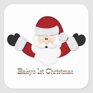 Babys 1st Christmas Square Sticker