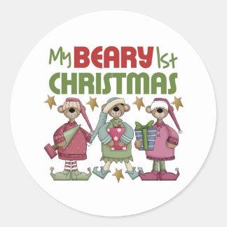 Baby's 1st Christmas Round Sticker