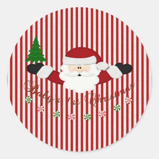 Babys 1st Christmas Sticker