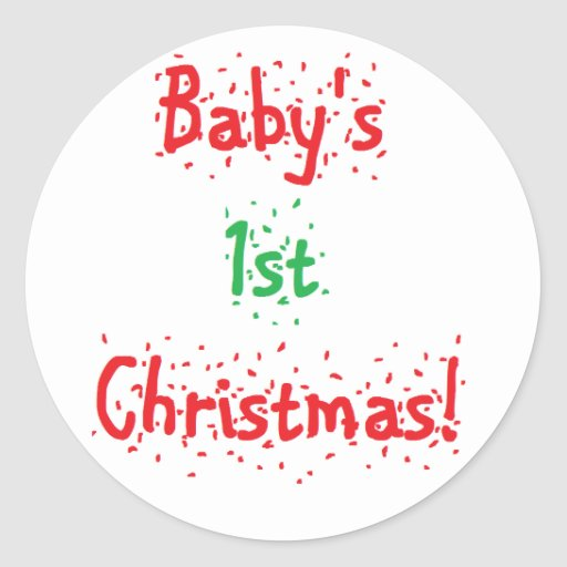 """""""Baby's 1st Christmas"""" Stickers"""