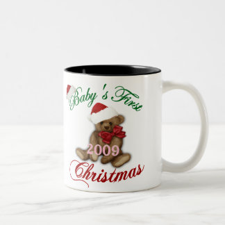Babys 1st Christmas Two-Tone Mug