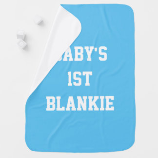 Baby's 1st (First) Blankie, Blue Blanket Receiving Blankets