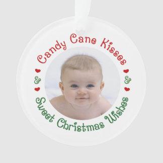 Baby's 1st First Christmas Photo Gift Ornament