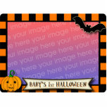 Baby's 1st Halloween Black and Orange Photo frame Standing Photo Sculpture