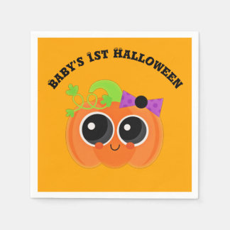 Babys 1st Halloween Little Pumpkin Disposable Napkin