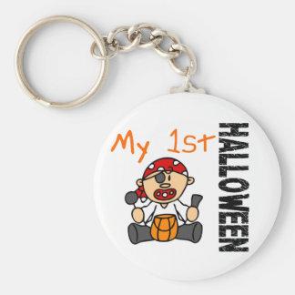 Baby's 1st Halloween Pirate BOY Basic Round Button Key Ring
