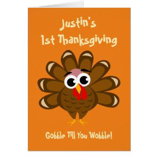 Baby's 1st Thanksgiving grandson or granddaughter Card