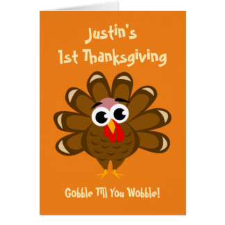 Baby's 1st Thanksgiving grandson or granddaughter Greeting Card