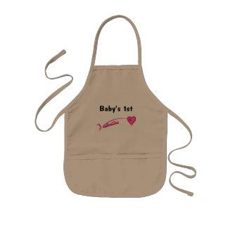 Baby's 1st Valentine Kids Apron