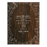 Baby's Breath Barnwood Inspired Save The Date Postcard