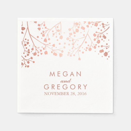 Baby's Breath Blush and White Floral Wedding Paper