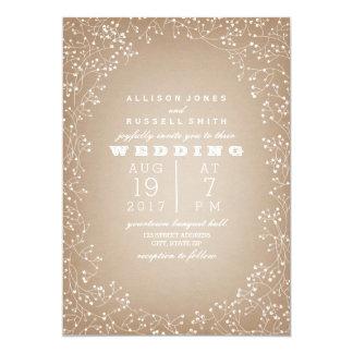 Baby's Breath Border Cardstock Inspired 13 Cm X 18 Cm Invitation Card