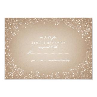 Baby's Breath Card Stock Inspired RSVP 9 Cm X 13 Cm Invitation Card