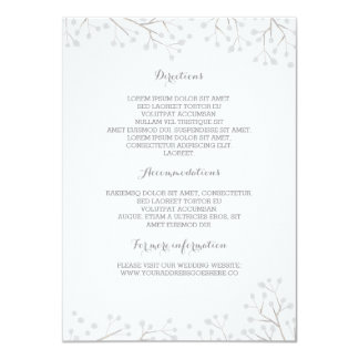 Baby's Breath Elegant Wedding Details 11 Cm X 16 Cm Invitation Card