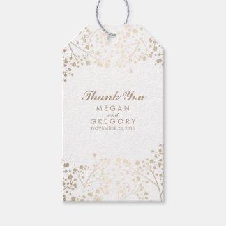 Baby's Breath Gold and White Wedding