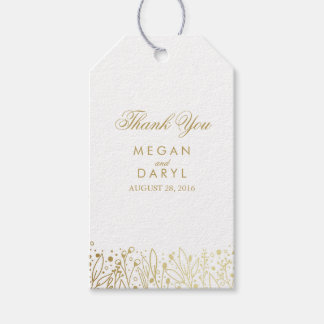 Baby's Breath Gold Foil Bouquet Wedding Gift Tags