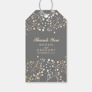 Baby's Breath Gold Foil Wedding Gift Tags