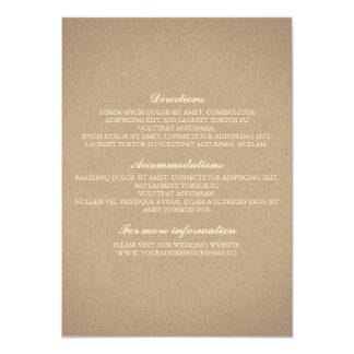 Baby's Breath Gold Wedding Details - Information Card