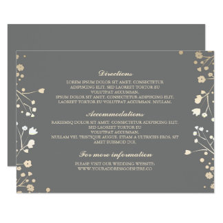 Baby's Breath Grey Wedding Details - Information Card