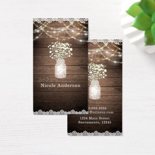 Baby's Breath & Lights Rustic Wedding Elegant Business