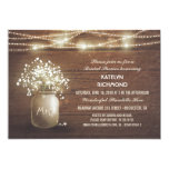 Baby's Breath Mason Jar Lights Bridal Shower 13 Cm X 18 Cm Invitation Card