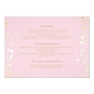 Baby's Breath Pink Wedding Details - Information 11 Cm X 16 Cm Invitation Card