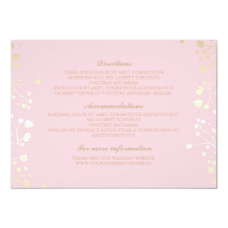 Baby's Breath Pink Wedding Details - Information Card