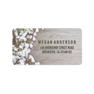 Baby's Breath Rustic Wedding Address Label