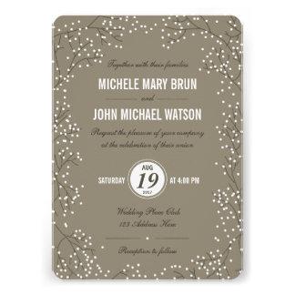 Baby's Breath Wedding Invite Round Corners