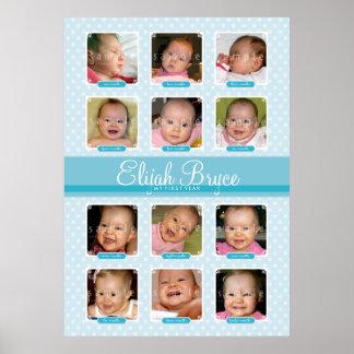 BABY'S FIRST 12 BIRTHDAY MONTHS KEEPSAKE  boy Poster