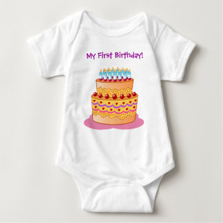 Baby's First Big Birthday Cake Tees