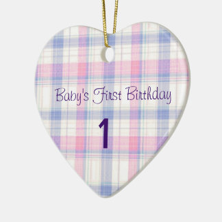 Baby's First Birthday Christmas Ornament