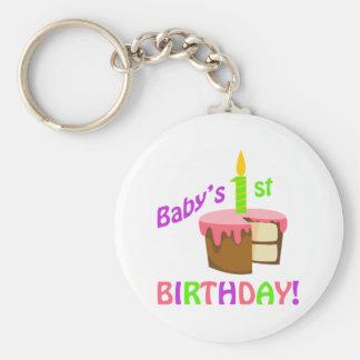 BABYS FIRST BIRTHDAY KEYCHAIN