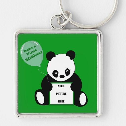 BABY'S FIRST BIRTHDAY! (Panda Motif) ~ Key Chains
