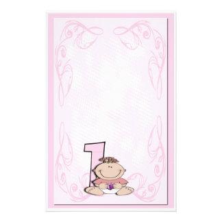 Baby's First Birthday Stationery Design
