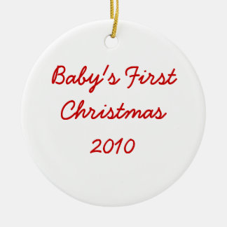 Baby's First Christmas 2010 Christmas Ornament