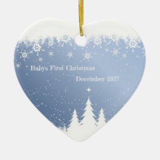 Baby's First Christmas 2017 (winter forest) Christmas Ornament