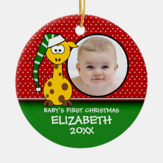 Baby's First Christmas Baby Giraffe Ornament