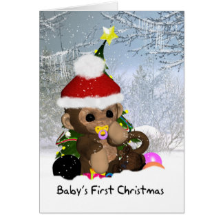 Baby's First Christmas - Baby's 1st Christmas Card