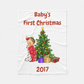 Baby's First Christmas Blanket