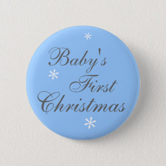 Baby's First Christmas (boy) - Button